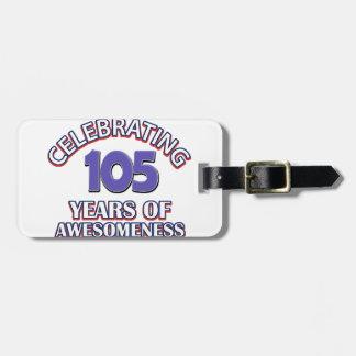 diseño del cumpleaños de 50 años etiqueta de equipaje
