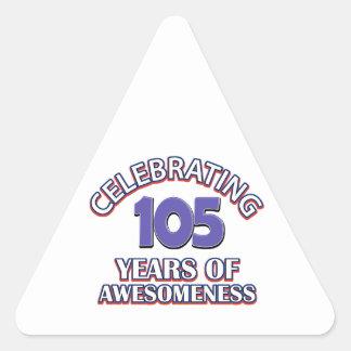 diseño del cumpleaños de 50 años pegatina triangular