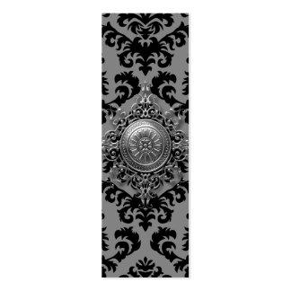 Diseño del damasco, medallón afiligranado tarjetas de visita mini