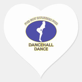diseño del dancehall pegatina en forma de corazón