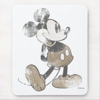 Diseño del desastre del vintage de Mickey Mouse Mouse Pads