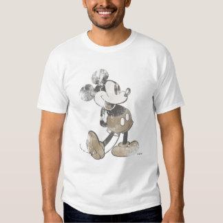 Diseño del desastre del vintage de Mickey Mouse Playera