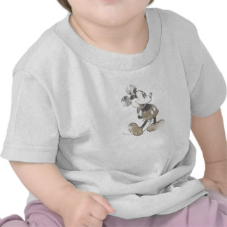 Diseño del desastre del vintage de Mickey Mouse Camiseta
