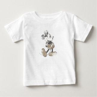 Diseño del desastre del vintage de Mickey Mouse Playera De Bebé