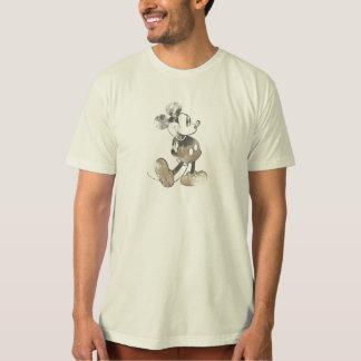 Diseño del desastre del vintage de Mickey Mouse Poleras