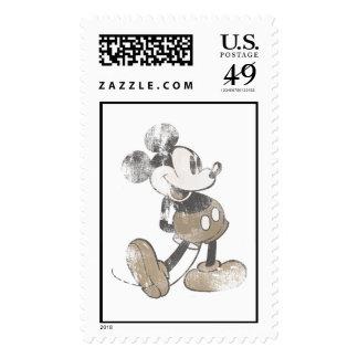 Diseño del desastre del vintage de Mickey Mouse Franqueo