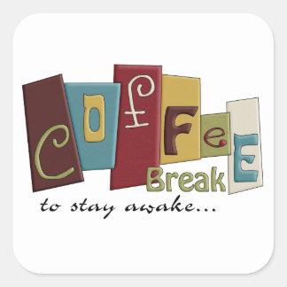 Diseño del descanso para tomar café etiquetas