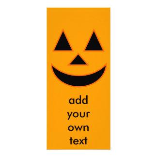 Diseño del día de fiesta de la cara de la calabaza tarjetas publicitarias personalizadas