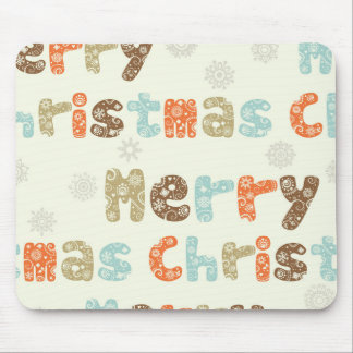 Diseño del día de fiesta de las Felices Navidad Mousepads