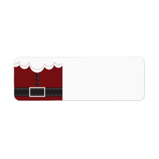Diseño del día de fiesta del navidad del juego de etiqueta de remite