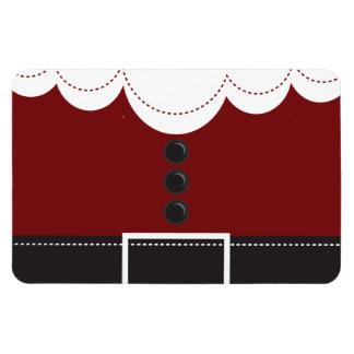 Diseño del día de fiesta del navidad del juego de  imán rectangular