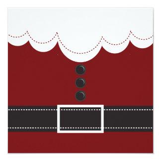 """Diseño del día de fiesta del navidad del juego de invitación 5.25"""" x 5.25"""""""