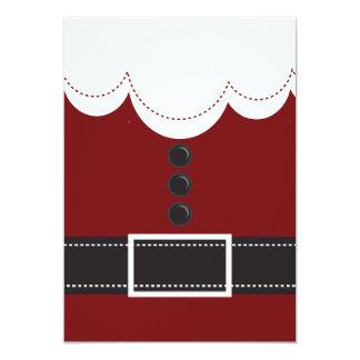 """Diseño del día de fiesta del navidad del juego de invitación 5"""" x 7"""""""