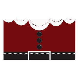 Diseño del día de fiesta del navidad del juego de  tarjetas de visita