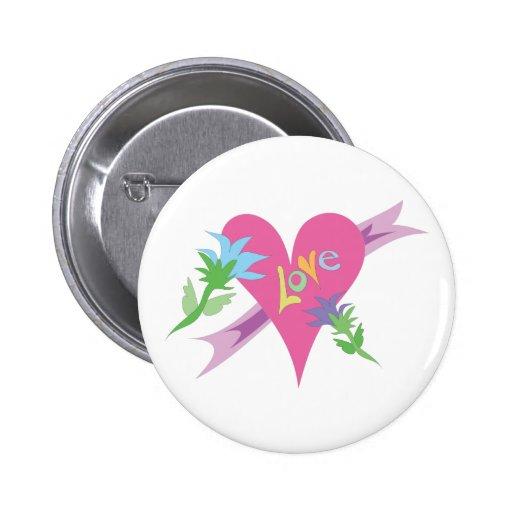 Diseño del día de San Valentín del corazón del amo Pins