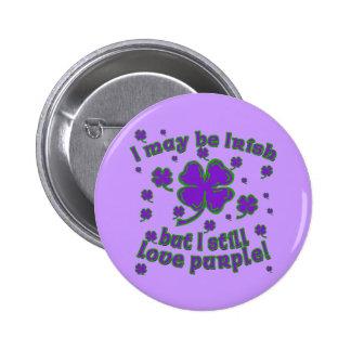 Diseño del día de St Patrick púrpura del trébol Pin