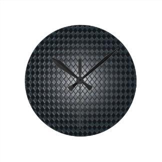 Diseño del diamante negro del asesino reloj redondo mediano