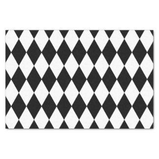 Diseño del diamante negro papel de seda pequeño