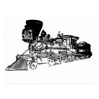 Diseño del dibujo del tren tarjeta postal