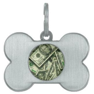 Diseño del dinero del efectivo placas mascota