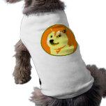 Diseño del dogecoin del arte pop playera sin mangas para perro