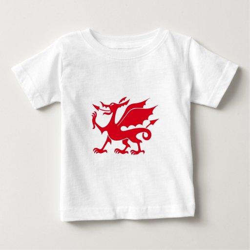 Diseño del dragón Galés Playeras