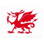 Diseño del dragón Galés Postales