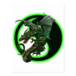 Diseño del dragón tarjeta postal