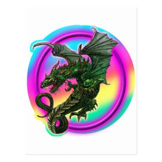 Diseño del dragón postales