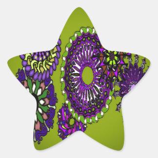 diseño del edart pegatina en forma de estrella