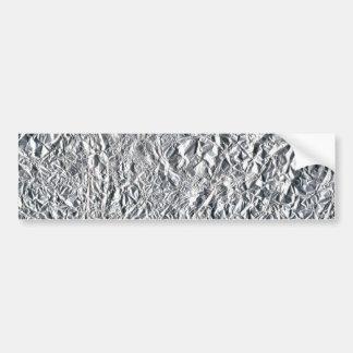 Diseño del efecto del papel de aluminio pegatina para auto