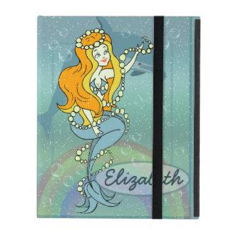 Diseño del ejemplo del arco iris y del delfín de l iPad fundas
