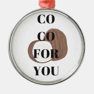 Diseño del ejemplo del texto del coco del Co Co Adorno Navideño Redondo De Metal