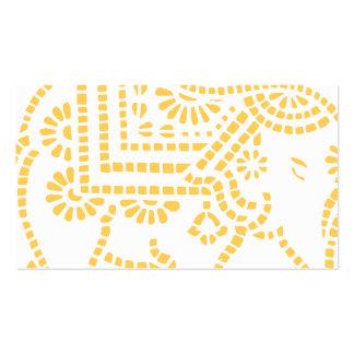 Diseño del elefante indio plantillas de tarjeta de negocio