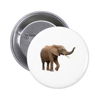 Diseño del elefante pin redondo 5 cm