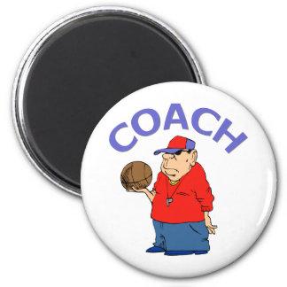 Diseño del entrenador de béisbol imán redondo 5 cm