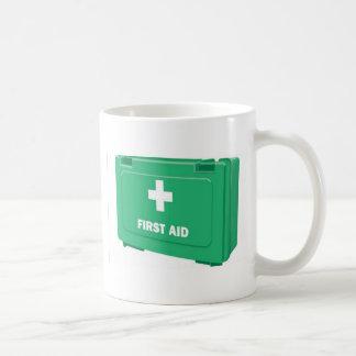 Diseño del equipo de primeros auxilios tazas de café