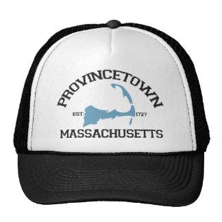 """Diseño del """"equipo universitario"""" de Provincetown. Gorras"""