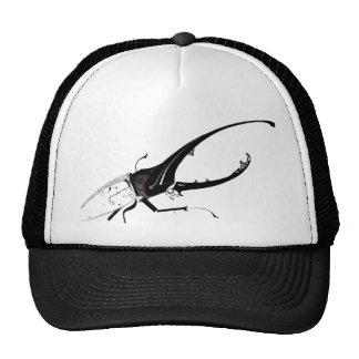 Diseño del escarabajo blanco y negro gorras