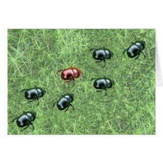 Diseño del escarabajo tarjeta de felicitación