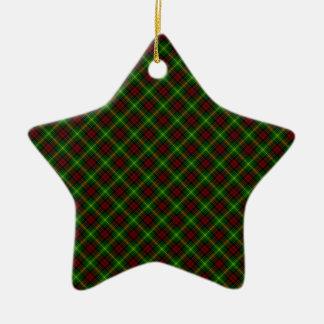 Diseño del escocés del tartán del clan de Martin Adorno Navideño De Cerámica En Forma De Estrella