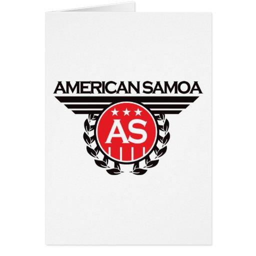 Diseño del escudo de American Samoa Tarjetas