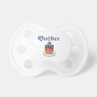 Diseño del escudo de armas de Quebec Canadá Chupete De Bebe