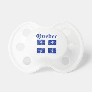 Diseño del escudo de armas de Quebec Canadá Chupete