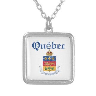 Diseño del escudo de armas de Quebec Canadá Collar