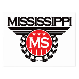 Diseño del escudo de Mississippi Postal
