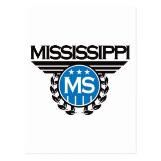 Diseño del escudo de Mississippi Postales