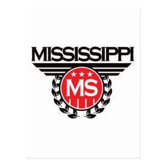 Diseño del escudo de Mississippi Tarjeta Postal