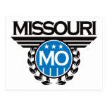 Diseño del escudo de Missouri Tarjeta Postal