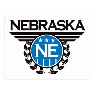 Diseño del escudo de Nebraska Tarjetas Postales